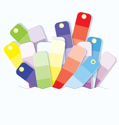 Swatches display vector image vector image