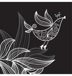 abstract bird vector image