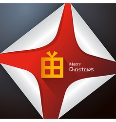 Abstract Merry Christmas Background vector image vector image