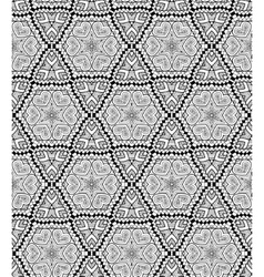 Black and white geometric seamless patterns vector image vector image