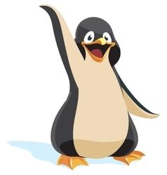 Cute cartoon penguin vector