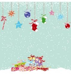 cute Christmas card vector image