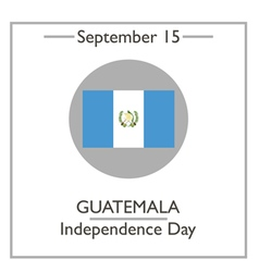 Guatemala Independence Day vector image vector image