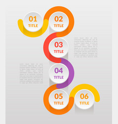 horizontal-vertical steps infographics - can vector image vector image