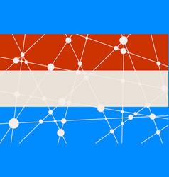 Luxembourg flag concept vector