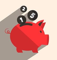 Money Pig Bank Retro vector image vector image