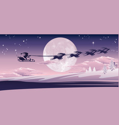 santa flying in his sled vector image vector image