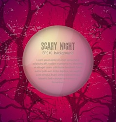 Scary night background vector image vector image