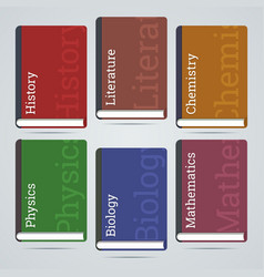 School education books flat icons vector image