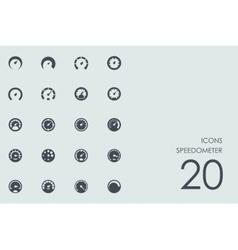 Set of speedometer icons vector image