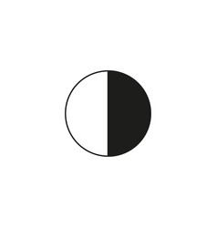 Brightness and contrast icon simple flat logo of vector