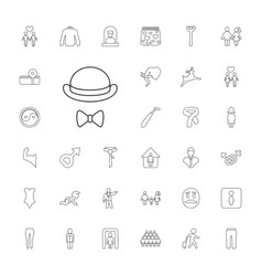 33 male icons vector
