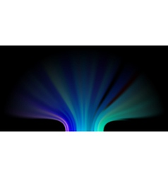 Abstract Aurora Lights Background vector image