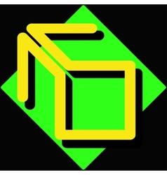 Abstract yellow logo vector image