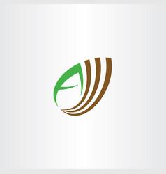 Almond letter a logo icon symbol vector