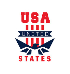 American logo template with eagle silhouette usa vector