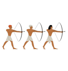 Ancient egypt archers vector