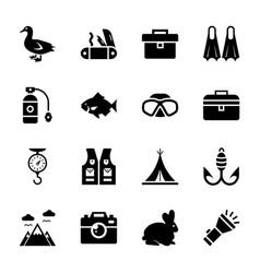 animal hunting icons vector image