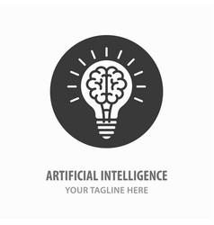 Artificial intelligence icon vector