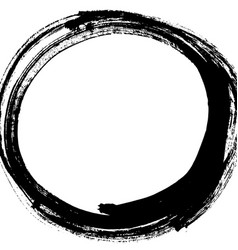 Black brush stroke in form a circle vector