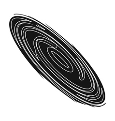 Black hole icon in black style isolated on white vector