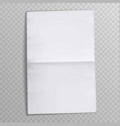 blank newspaper sheet tabloid newsprint magazine vector image