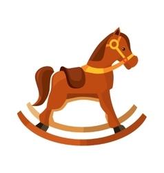 Brown rocking horse vector