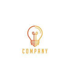bulb lamp logo smart idea vector image