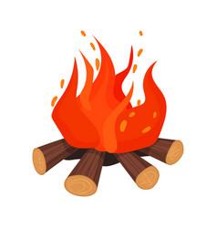 burning bonifire stone age symbol vector image