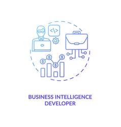 Business intelligence developer concept icon vector