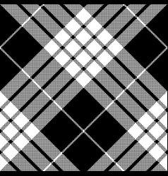 cameron black white tartan plaid pixel seamless vector image