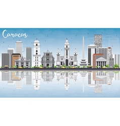 Caracas Skyline with Gray Buildings vector