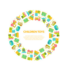 children toys banner template with place for text vector image