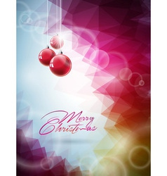 Christmas design with red glass vector