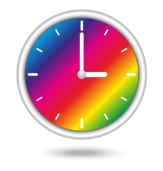 Clock with color spectrum vector