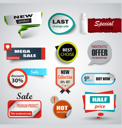 collection sale pointers and labels design vector image
