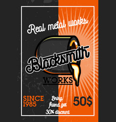 color vintage blacksmith banner vector image