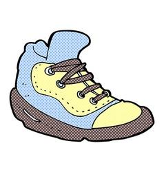 Comic cartoon sneaker vector