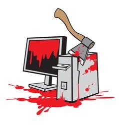Dead computer vector