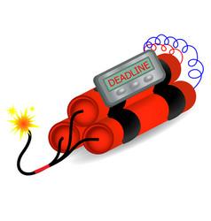 Deadline time bomb explosion danger concept vector