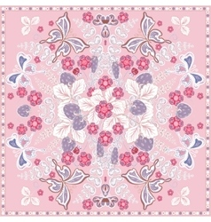 Decorative color floral background strawberry and vector image