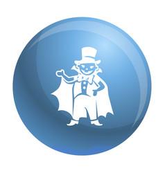 Dracula kid costume icon simple style vector