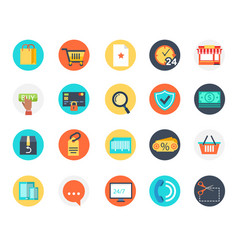 e-commerce icon online shoping business payment vector image
