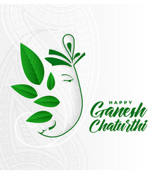 Eco friendly ganesh ji concept design for ganesh vector