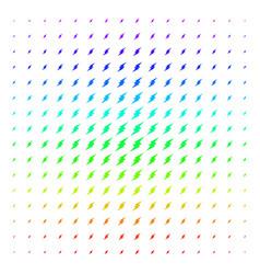 electric spark shape halftone spectral effect vector image
