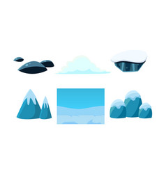 Elements of nature winter landscape user vector