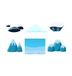 elements of nature winter landscape user vector image