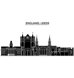 England leeds architecture city skyline vector