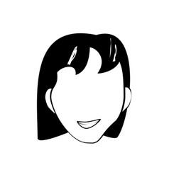 face woman smile cartoon vector image