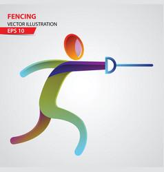 Fencing sport logo vector